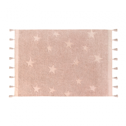Hippy stars Washable Rug Nude