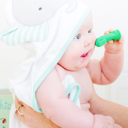 Finger Toothbrush Willa the Whale light blue