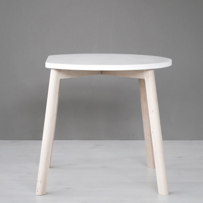 Half moon table white