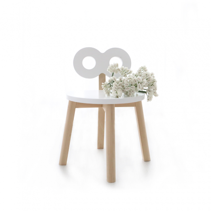 Half moon chair white