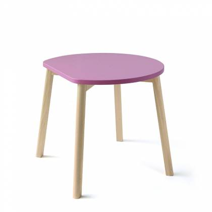 Half moon table pink