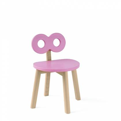 Half moon chair pink