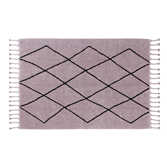 Lilac Berber Washable Rug