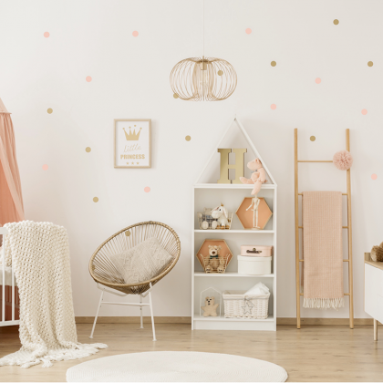 Pink Dots Wall Stickers