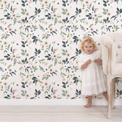 blossom wallpaper white
