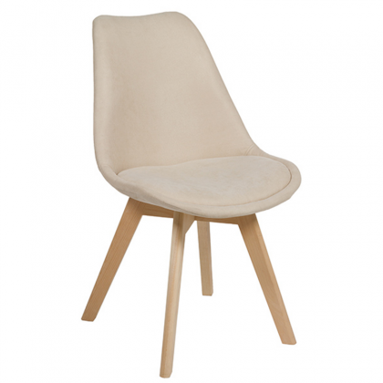 Velvet Chair beige