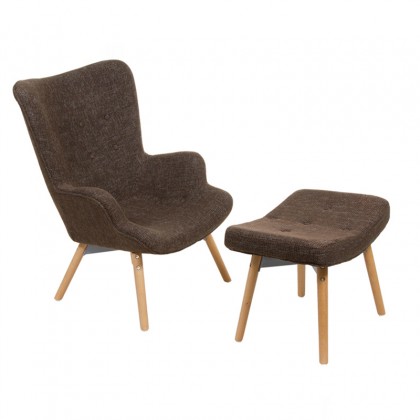 Fauteuil Copenhague marron