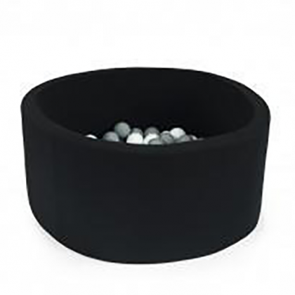 Pool Balls black, gray and white pearl