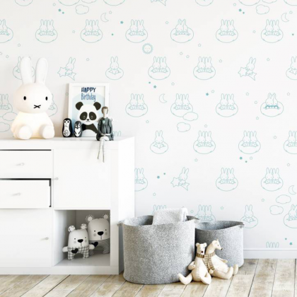 Miffy clouds wallpaper