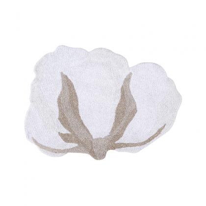 Cotton Flower Washable Rug