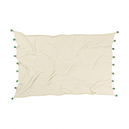 Bubbly Natural Washable Blanket green