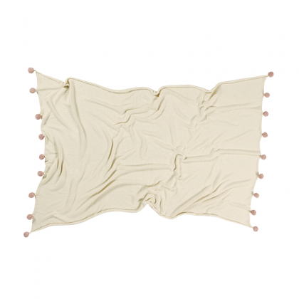 Bubbly Natural Washable Blanket -nude