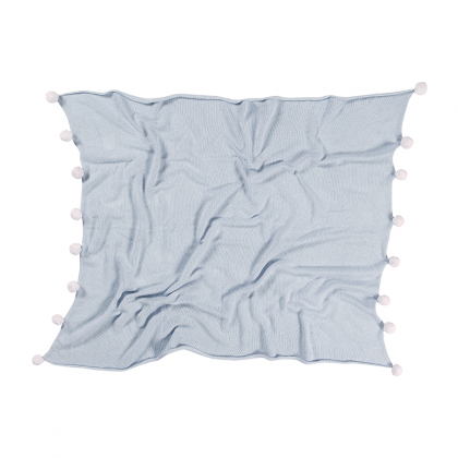 Bubbly Washable Blanket light blue
