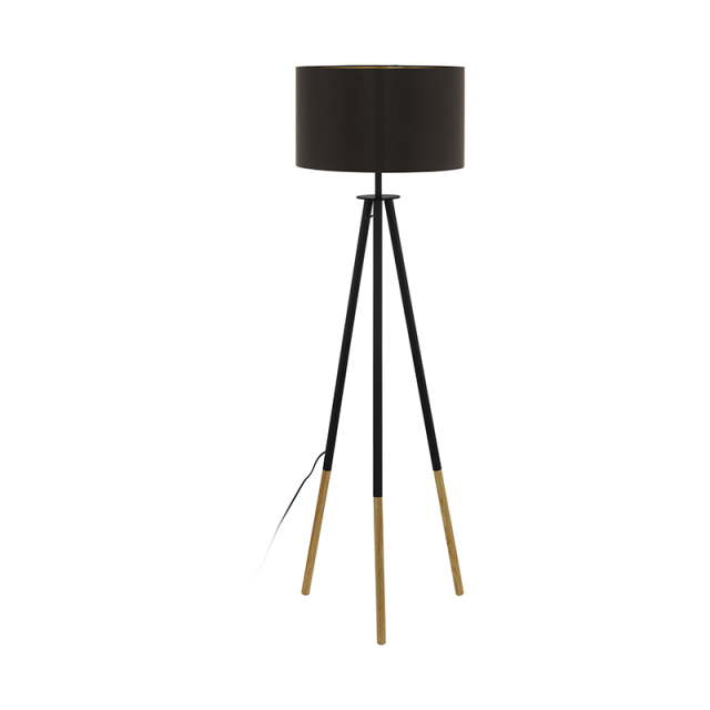 Romy black Floor lamp