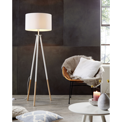 Romy white Floor lamp