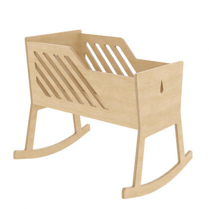 Wooden cradle Tuly birch