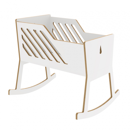 Wooden cradle Tuly White