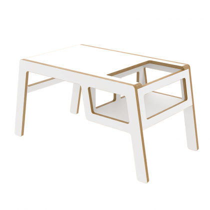 Kid's wooden table flex white