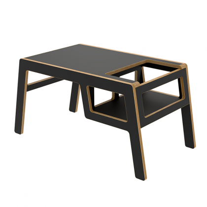 Kid's wooden table flex black