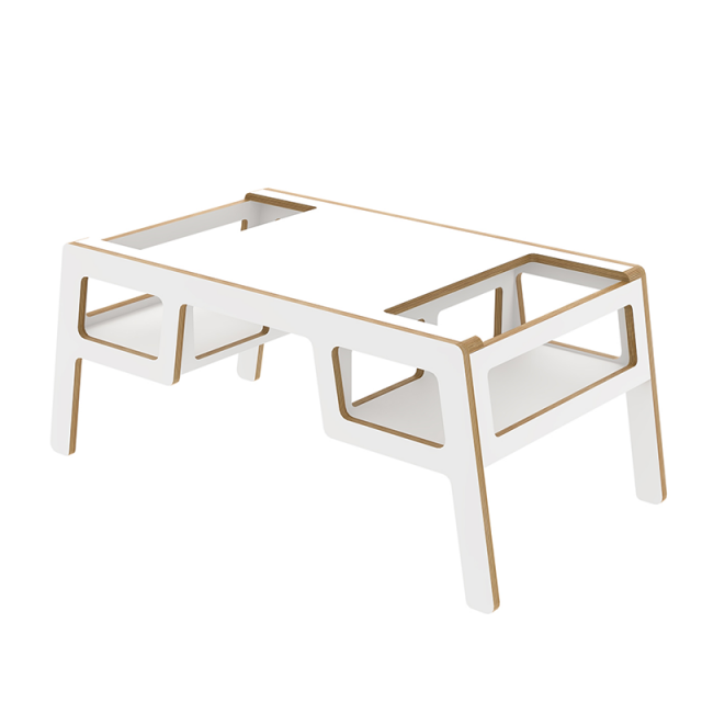 Kid's wooden table Double flex white