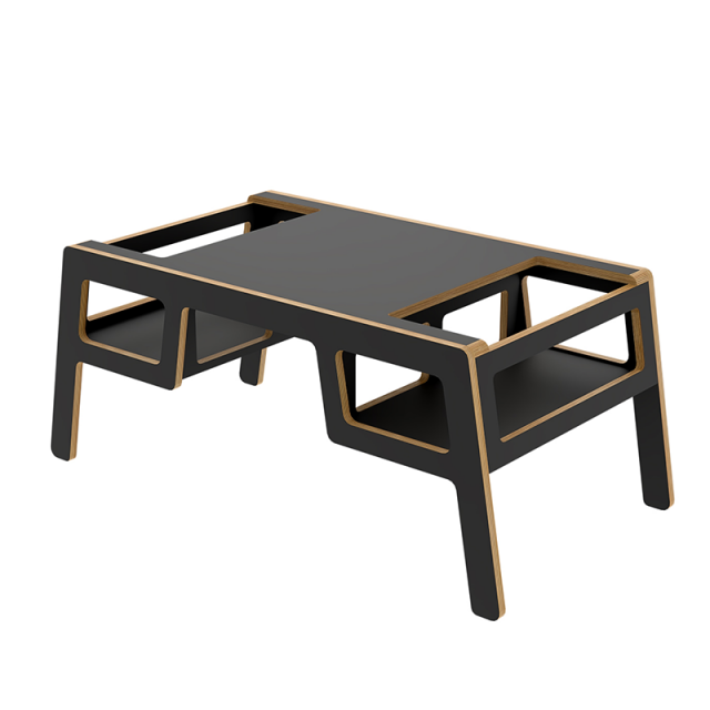 Kid's wooden table Double flex black