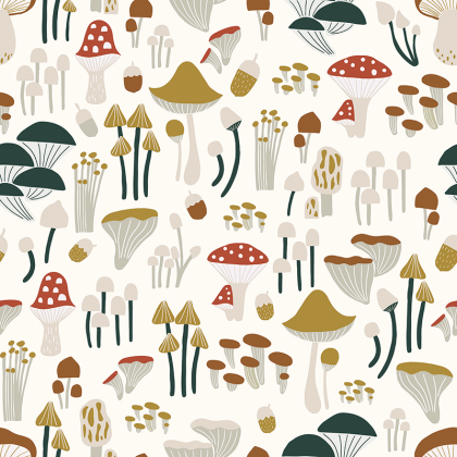 Papel pintado MUSHROOMS