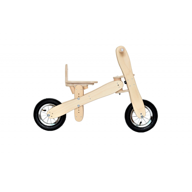 Wooden bicycle Happy