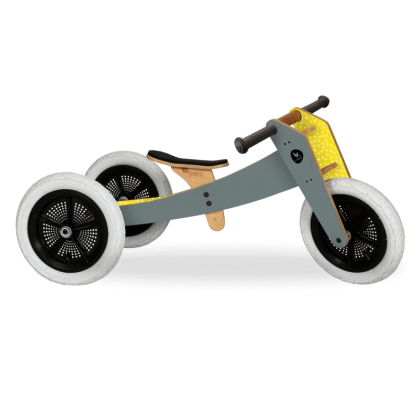 Wooden bike 3 in 1 Gray