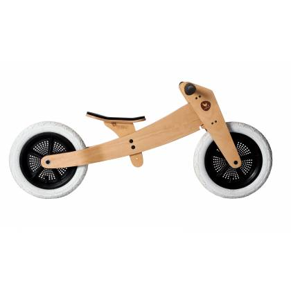 Wooden bike 2 in 1 natural