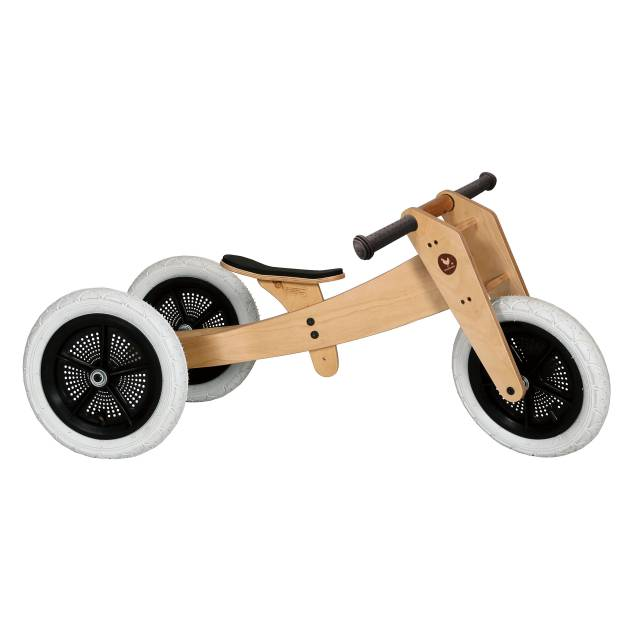 Wooden bike 3 in 1 natural