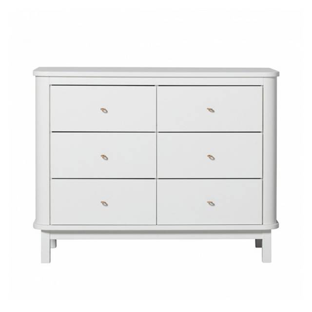 Commode wood blanche