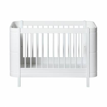 wood mini cradle white