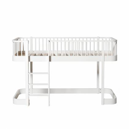 wood Mini lit Loft blanc