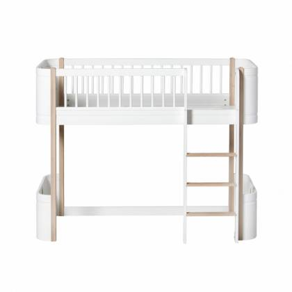 Mini letto Low Loft wood