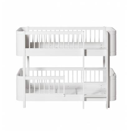 white Low Bunk bed wood