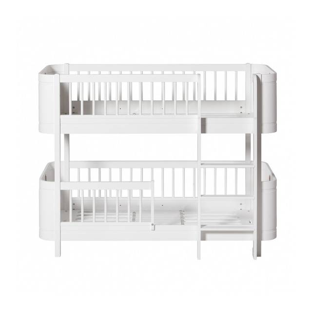letto Low Bunk wood bianco