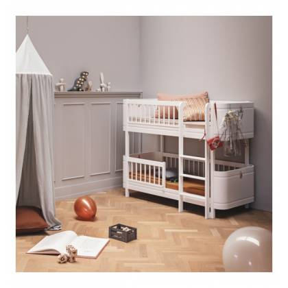 wood lit Low Bunk blanc