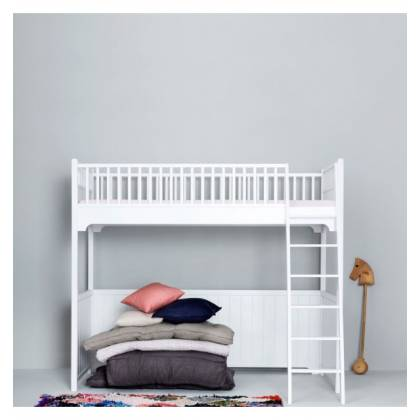 white seaside Loft bed