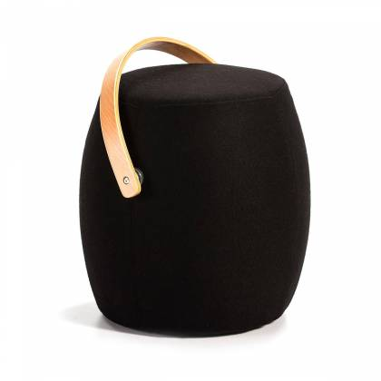 with black handle stool