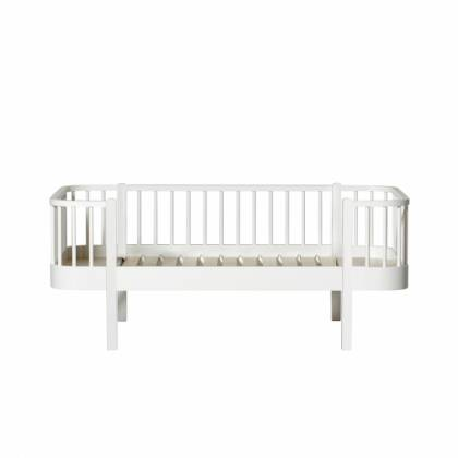 wood junior Day bed white