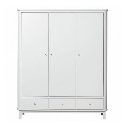 WOOD WHITE 3DOORS CABINET