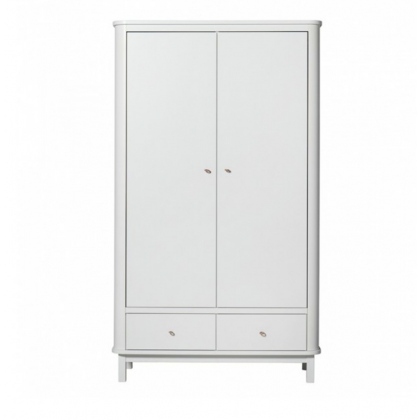 WOOD CABINET WHITE 2 doors