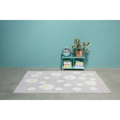 Tapis Happy Daisies lavable