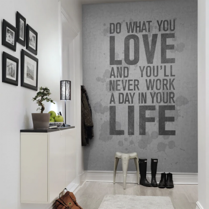 Quotes, concrete Wandbild