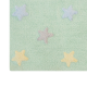 tricolor star washable rug