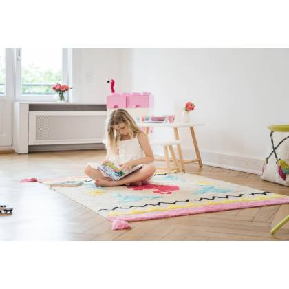 Origami rug with tassels