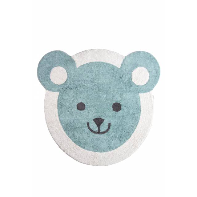 Tapis rond ours