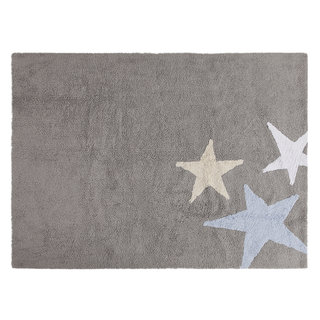 three stars washable rug