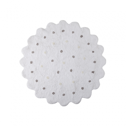 Round cookie washable rug