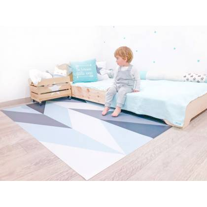 Blue & Grey arrow Vinyl Carpet